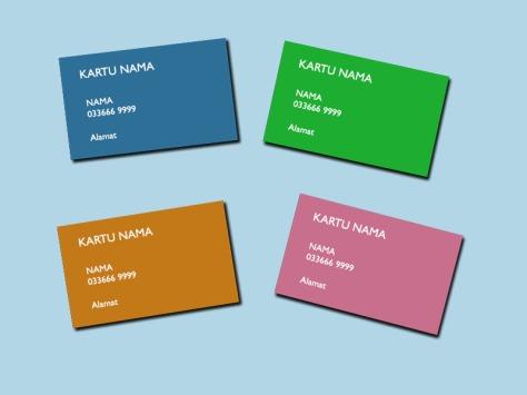 fungsi kartu nama